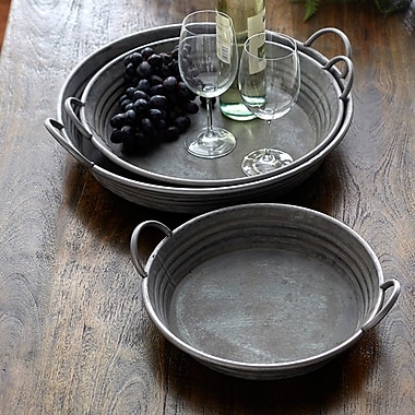 Melrose Intl. 3 Piece Accent Tray Set