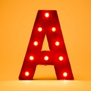 Glitzhome Marquee LED Lighted Letter Block