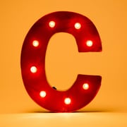 Glitzhome Marquee LED Lighted C Letter Block