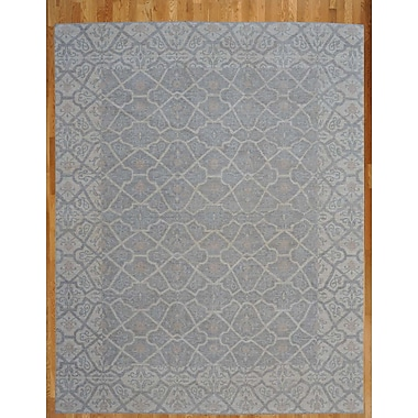 Wildon Home Hand-Knotted Gray/Blue Area Rug