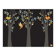 emma at home by Emma Gardner Fruit Trees Graphic Art on Canvas in Licorice; 11'' H x 14'' W