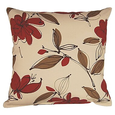 Dakotah Pillow Bremer 100pct Cotton Reversible Throw Pillow (Set of 2); Garnet