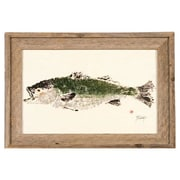 FishAye Trading Company Striped Bass Framed Print of Painting