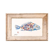 FishAye Trading Company Rainbow Fish Framed Print of Painting