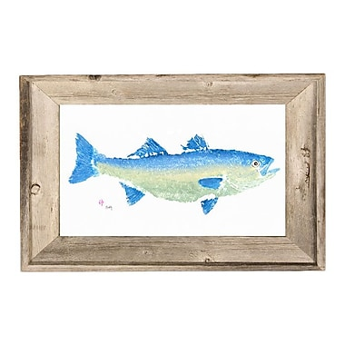 FishAye Trading Company Striper Framed Print of Painting