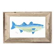 FishAye Trading Company Striper Framed Print of Painting