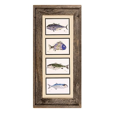 FishAye Trading Company Poissons Framed Print of Painting