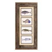 FishAye Trading Company Poissons Framed Print of Painting