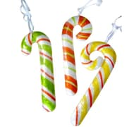 Dekorasyon 3 Piece Candy Cane Ornament Set