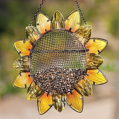 Evergreen Flag & Garden Sunflower Decorative Bird Feeder (WYF078280140416) photo