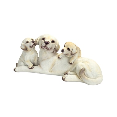 Melrose Intl. Labrador Mother and Pups Figurine
