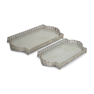 Melrose Intl. 2 Piece Accent Tray Set