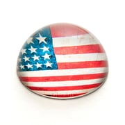 ValueArtsCompany Vintage American Flag Crystal Dome Paperweight