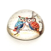 ValueArtsCompany Vintage Owl on Branch Crystal Dome Paperweight