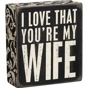 Primitives by Kathy, INc. My Wife Block Decor