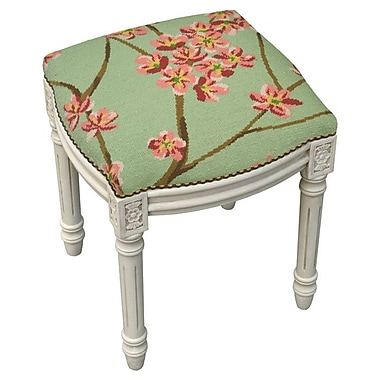 123 Creations Magnolia Accent Stool; Green