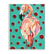 Stupell Industries Red Polka Dot Flamingo Wall Plaque Art