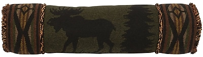 Wooded River Moose Bolster Pillow
