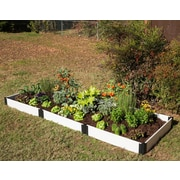 Frame It All 12 ft. x 4 ft. Manufactured Wood Raised Garden Planter