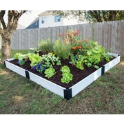 Frame It All 8 ft. x 8 ft. Manufactured Wood Raised Garden Planter