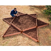 Frame It All 12 ft. x 12 ft. Manufactured Wood Raised Garden Planter