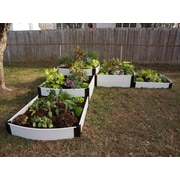 Frame It All 12 ft. x 12 ft. Composite Raised Garden Planter