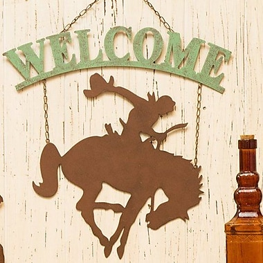 Glitzhome Cowboy Welcome Sign