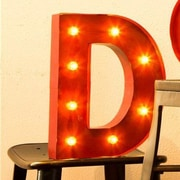 Glitzhome Marquee LED Lighted D Letter Block
