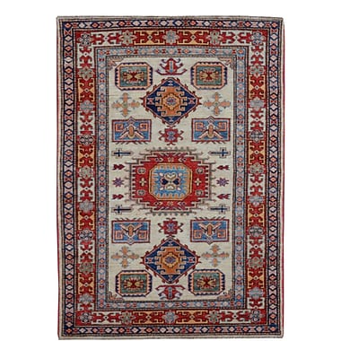 Wildon Home Kazak Hand-Knotted Red/Blue Area Rug
