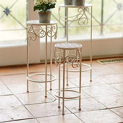 Melrose Intl. 3 Piece Plant Stand Set