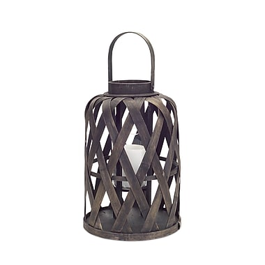 Melrose Intl. Open Glass Lantern