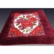 At Home Two Plys Super Soft Heavy Mink Blanket; Maroon