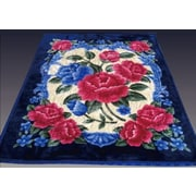 At Home Two Plys Super Soft Heavy Mink Blanket; Royal Blue