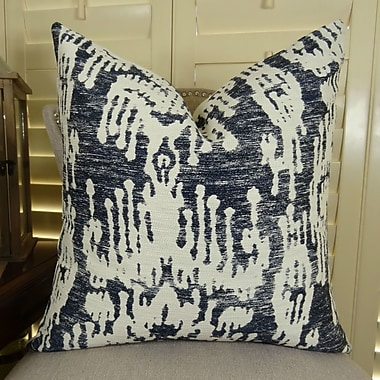 Plutus Brands Painted Ikat Throw Pillow; 18'' H x 18'' W