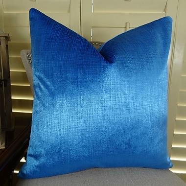 Plutus Brands Lumiere Azure Throw Pillow; 16'' H x 16'' W