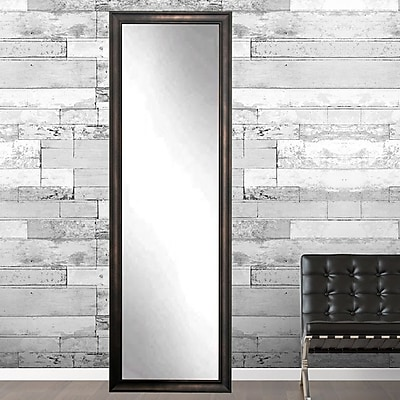 American Value Current Trend Apartment Full Length Wall Mirror; 69'' H x 14'' W x 0.75'' D