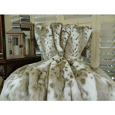 Plutus Brands Siberian Leopard Faux fur Throw; 84'' L x 60'' W