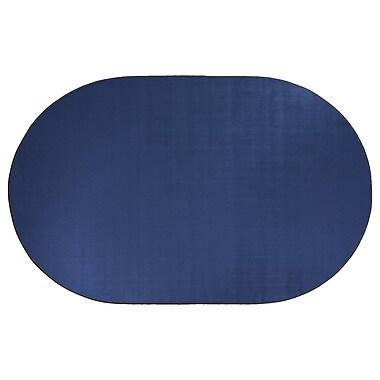 Flagship Carpets Americolors Royal Blue Area Rug; Oval 12' x 18'