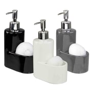 Home Basics Soap Dispenser; Gray