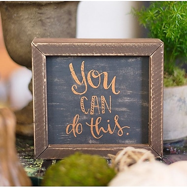 Glory Haus 'You Can Do This' by Glory Haus Framed Texual Art