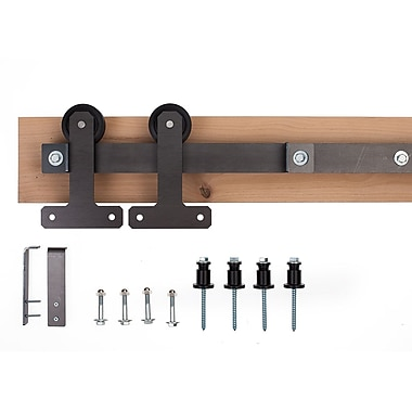 Ironwood Ironwood Cellar Barn Door Hardware System; Raw Steel