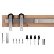 Ironwood Ironwood High Rise Barn Door Hardware System w/ 6-Foot Track; Brushed Steel