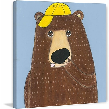 Marmont Hill ''Smart Bear'' Painting Print on Wrapped Canvas; 48'' H x 48'' W x 1.5'' D