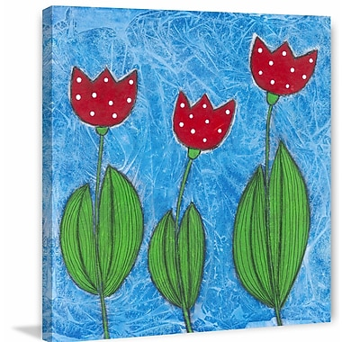 Marmont Hill ''Jolly Tulips'' Painting Print on Wrapped Canvas; 48'' H x 48'' W x 1.5'' D