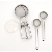 RSVP-INTL 3-Piece Stainless Steel Sifter Set