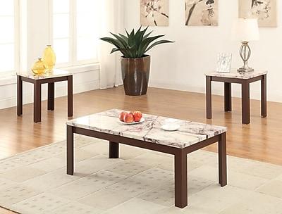 A&J Homes Studio Carly 3 Piece Coffee Table Set