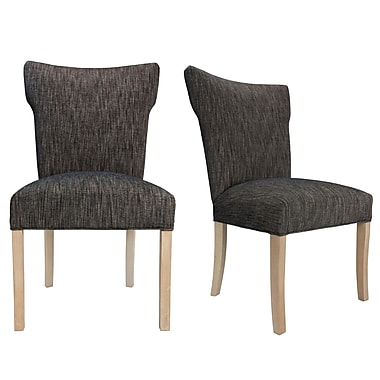 Sole Designs Bella Lucky Spring Seating Double Dow Upholstered Side Chair (Set of 2)