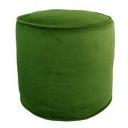 R&MIndustries Majestic Plush Pouf Ottoman; Green