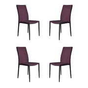 Madison Home USA Modern Casual Parsons Chair (Set of 4); Purple