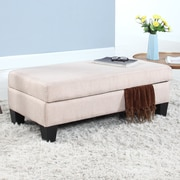 Madison Home USA Classic Linen Storage Bedroom Bench; Apricot